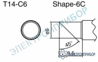 Паяльные сменные композитные головки для паяльника с подачей азота hakko 957, станции hakko 938 T14-C6