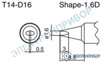 Паяльные сменные композитные головки для паяльника с подачей азота hakko 957, станции hakko 938 T14-D16