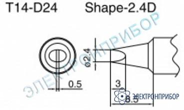 Паяльные сменные композитные головки для паяльника с подачей азота hakko 957, станции hakko 938 T14-D24