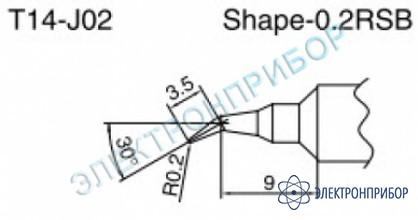 Паяльные сменные композитные головки для паяльника с подачей азота hakko 957, станции hakko 938 T14-J02