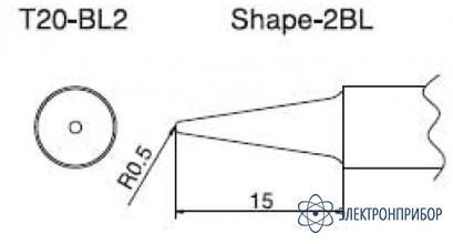 Паяльная сменная композитная головка для станций fx-838 T20-BL2