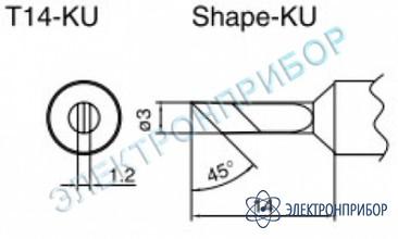 Паяльные сменные композитные головки для паяльника с подачей азота hakko 957, станции hakko 938 T14-KU