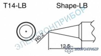 Паяльные сменные композитные головки для паяльника с подачей азота hakko 957, станции hakko 938 T14-LB