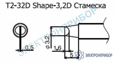 Паяльные сменные композитные головки для станции 942 T2-32D