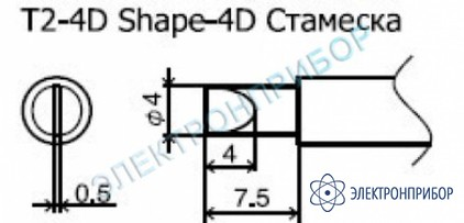 Паяльные сменные композитные головки для станции 942 T2-4D