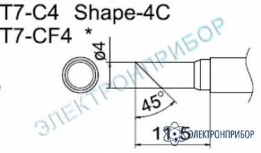Паяльные сменные композитные головки для станции fм-202 T7-CF4