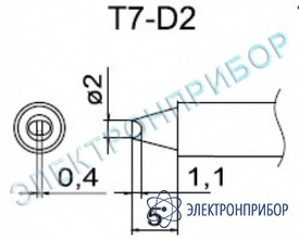 Паяльные сменные композитные головки для станции fм-202 T7-D2