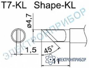 Паяльные сменные композитные головки для станции fм-202 T7-KL