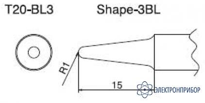 Паяльная сменная композитная головка для станций fx-838 T20-BL3