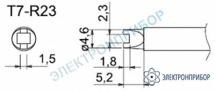 Паяльные сменные композитные головки для станции fм-202 T7-R23