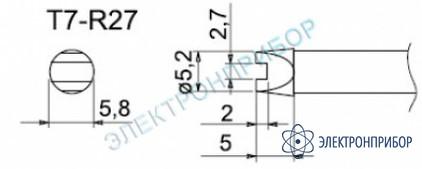 Паяльные сменные композитные головки для станции fм-202 T7-R27