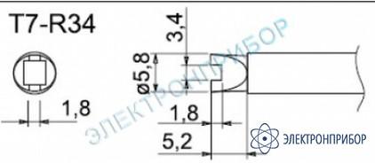 Паяльные сменные композитные головки для станции fм-202 T7-R34