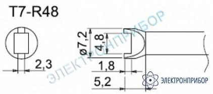 Паяльные сменные композитные головки для станции fм-202 T7-R48