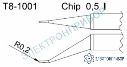 Паяльные сменные композитные головки для термопинцета fм-2022 T8-1001
