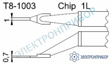 Паяльные сменные композитные головки для термопинцета fм-2022 T8-1003