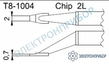 Паяльные сменные композитные головки для термопинцета fм-2022 T8-1004