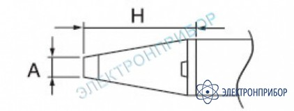 Паяльная сменная головка для термопинцета hakko 950 (c1311) A1577