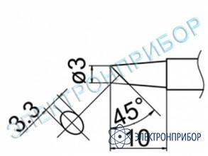 Паяльная сменная композитная головка для станций fx-950/ fx-951/fx-952/fm-203 T12-BC3Z