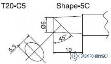 Паяльная сменная композитная головка для станций fx-838 T20-C5