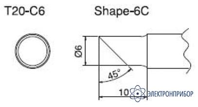 Паяльная сменная композитная головка для станций fx-838 T20-C6