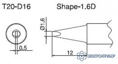 Паяльная сменная композитная головка для станций fx-838 T20-D16