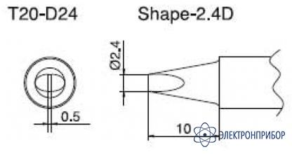 Паяльная сменная композитная головка для станций fx-838 T20-D24