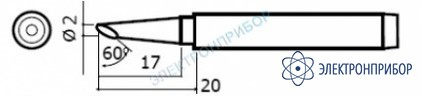 Сменные головки для паяльников hakko 984, hakko 985 980-T-BC