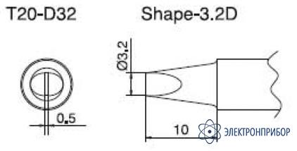 Паяльная сменная композитная головка для станций fx-838 T20-D32