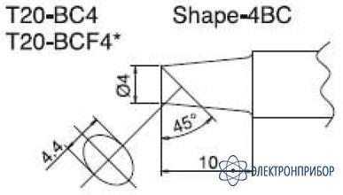 Паяльная сменная композитная головка для станций fx-838 T20-BC4