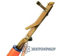 Заземление переносное линейное однофазное  (фазный зажим прищепка) ЗПЛ-10-1/1-25