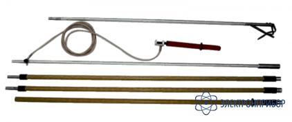 Заземление переносное для раздельного заземления проводов каждой фазы на воздушных линиях 750кв ПЗ–750Н (сеч. 25мм2)