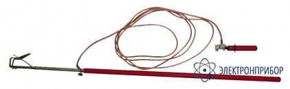 Заземление переносное для грозозащитного троса на воздушных линиях 330-500кв ПЗТ 330-500Н (сеч. 16мм2)