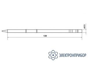 Паяльная сменная композитная головка для станций fx-950/ fx-951/fx-952/fm-203 T12-BC3