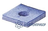 Вискозная губка 55х55 мм с центральным отверстием и прорезью 003B