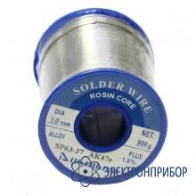 Припой олово-свинцовый с флюсом SP63-37&AK47e 1mm S-26