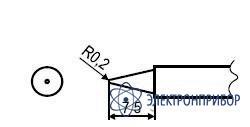 Паяльная сменная композитная головка для станции hakko fx-951 esd T1-B