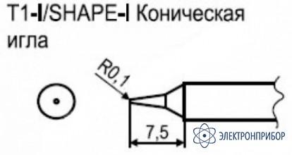 Паяльная сменная композитная головка для станции hakko fx-951 esd T1-I