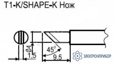 Паяльная сменная композитная головка для станции hakko fx-951 esd T1-K