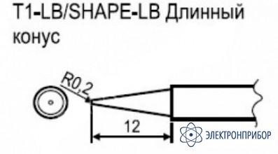 Паяльная сменная композитная головка для станции hakko fx-951 esd T1-LB
