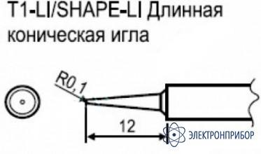 Паяльная сменная композитная головка для станции hakko fx-951 esd T1-LI