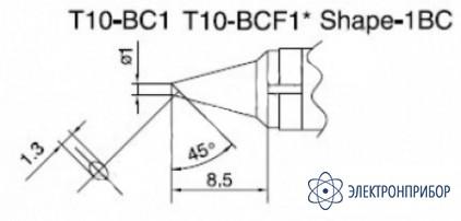 Паяльная сменная композитная головка для станций 938 T10-BC1