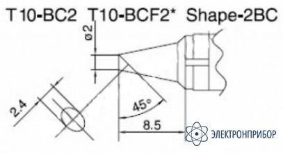 Паяльная сменная композитная головка для станций 938 T10-BC2