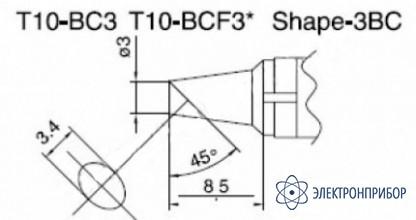 Паяльная сменная композитная головка для станций 938 T10-BC3