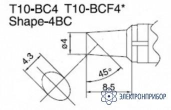 Паяльная сменная композитная головка для станций 938 T10-BC4