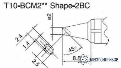 Паяльная сменная композитная головка для станций 938 T10-BCM2