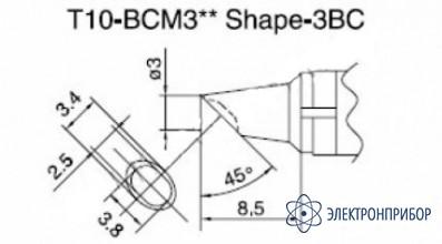 Паяльная сменная композитная головка для станций 938 T10-BCM3