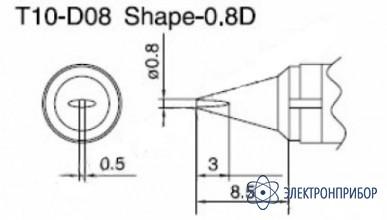 Паяльная сменная композитная головка для станций 938 T10-D08