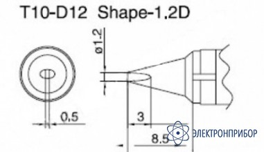 Паяльная сменная композитная головка для станций 938 T10-D12