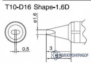 Паяльная сменная композитная головка для станций 938 T10-D16