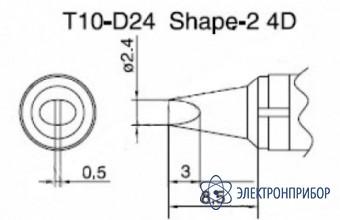 Паяльная сменная композитная головка для станций 938 T10-D24